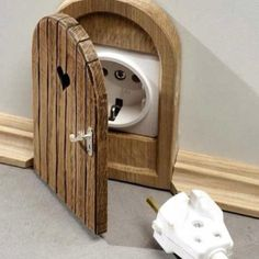 Fairy door outlet cover