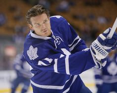 CrowdCam Hot Shot: Toronto Maple Leafs forward David Clarkson during the pre game warm up against the Buffalo Sabres at the Air Canada Centre. Photo by John E. Sokolowski