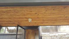 Clear coat on red cedar planks in Racine Wisconsin