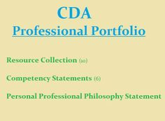 1000 images about cda professional portfolio on pinterest for Cda portfolio template