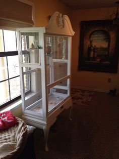 bird aviary from what, painted furniture, pets animals, repurposing upcycling, Side door #aviariesideas