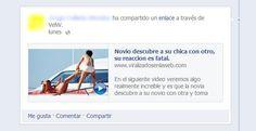"""Nuevo timo en Facebook: """"Novio descubre a su chica con otro, su reaccion es fatal"""""""
