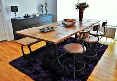#Vintage #Dining #Table by IndieCompany DK  www.indiecompany.com Rustic Design, Furniture Design, Dining Table, Decor Ideas, Pretty, Vintage, Home Decor, Decoration Home, Room Decor