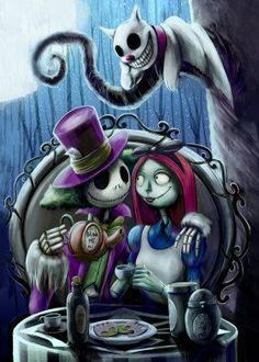 Image Halloween, Halloween Art, Halloween Witches, Happy Halloween, Halloween Decorations, Dark Disney, Disney Art, Desenhos Tim Burton, Jack Y Sally