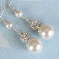 Pearl+Earrings+Wedding+Earrings+Bridal+by+NaturesWildJewels,+$22.99