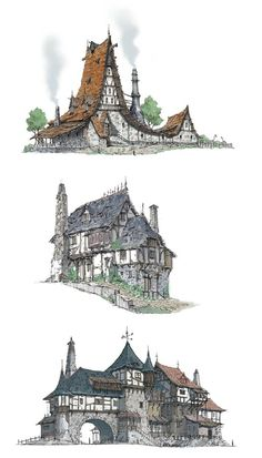 the Middle Ages house A:You can find Middle ages and more on our website.the Middle Ages house A: Fantasy House, Fantasy World, Environment Concept, Environment Design, Art Environnemental, Building Concept, Fantasy Places, Fantasy Landscape, Environmental Art
