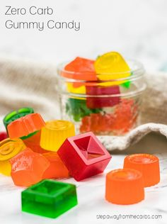 Zero Carb Gummy Candy - a sugar free treat! With video tutorial.