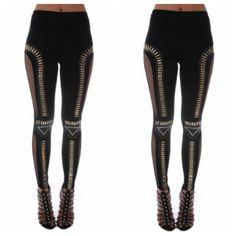 Black and Gold Dance Leggings, $12.50 by Allure Avenue Boutique
