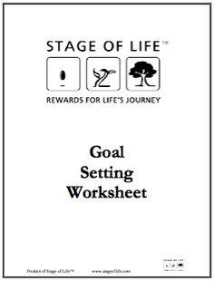 goal setting worksheet on pinterest goal settings smart