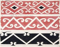 Godber, Albert Percy, :[Drawings of Maori rafter patterns]. Original also on a house at Whakarewarewa; Border Pattern, Pattern Art, Painting Patterns, Print Patterns, Maori Symbols, Maori Patterns, Maori People, Maori Designs, Henna Body Art