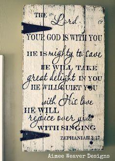 Zephaniah 3:17 sign.