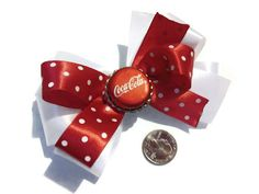 Bottle Cap Bows Coca Cola Bows Cheer Bows Adult bows by bowsngifts
