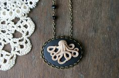 Seriously cool octopus cameo necklace