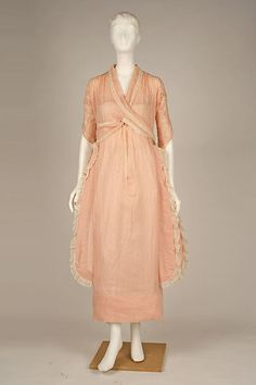 Dress Designer: Mme. Jeanne Paquin  Maker: Henri Bendel  Date: 1919 Culture: French Medium: cotton Accession Number: C.I.51.70.12