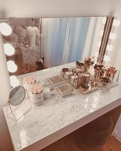 Beauty Room Decor, Makeup Room Decor, Makeup Rooms, Makeup Vanity Decor, Uk Makeup, Makeup Box, Makeup Ideas, Room Ideas Bedroom, Girl Bedroom Designs