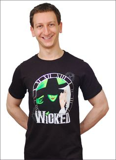 Wicked the Broadway Musical - Clock Logo T-Shirt $35.95