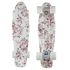 2014 Penny Style Skateboards Complete 22 Inch Flower Floral Board White Wheels