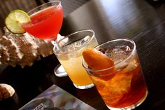 "You can't go wrong with these classic American cocktais!  The ""Jack Rose"", ""Penicillin"" & an ""Old Fashioned""."