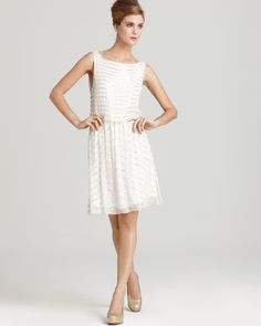 Alice + Olivia Dress - Gisel Silk Beaded Stripe