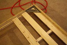 DIY wood bed frame @Daniel Morgan Roddin