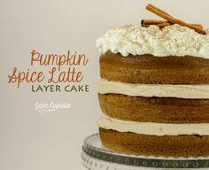 Pumpkin Spice Latte Layer Cake | JavaCupcake.com I am soooo baking this!!