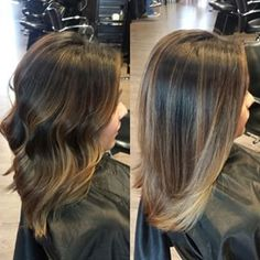 sunkissed balayage striaght hair - cut and color after baby? Hair Color And Cut, Ombre Hair Color, Balayage Straight Hair, Balayage Highlights, Balayage Bob, Bayalage, Hair Day, Gorgeous Hair, Hair Looks