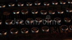 Video about Vintage typewriter keyboards details - use. Video of keys, machine, details - 61331775