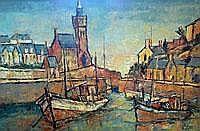 George Hann No 3 Porthleven - oil on board -