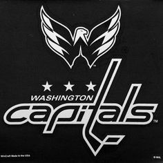 Washington Capitals White 8   Logo Decal 824cb00052a
