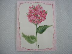 Painted Hydrangea Card Hand Painted by LisasPaintedCrafts on Etsy, $4.25