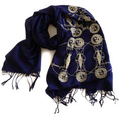 Solar & Lunar Eclipse Scarf Sun and Moon Gold Celestial Print Navy... ($44) ❤ liked on Polyvore featuring accessories, scarves, bridesmaids' gifts, gifts & mementos, grey, weddings, gray shawl, woven scarves, print scarves and gold scarves
