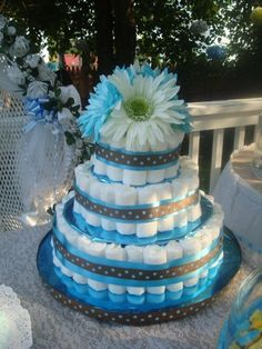 Liztastic Events- Baby Boy Diaper Cake