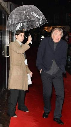 "October 20, 2008 - Alan Rickman arriving for the premiere of ""Rachel Getting Married""."