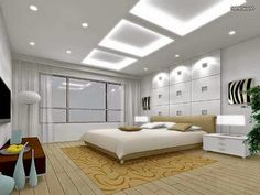 Best Ceiling Designs with Lighting for modern bedroom, #False #ceiling