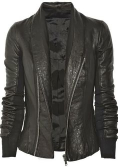 Lovely Black Leather Jacket | Fashion Frenzy