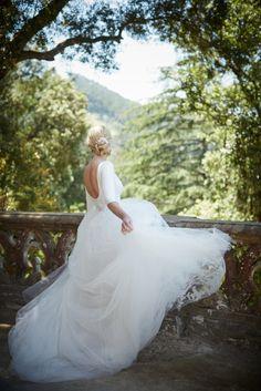 Full tulle wedding dress with long sleeves | BHLDN