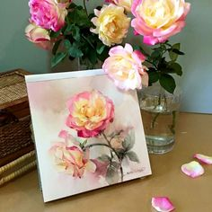 VK is the largest European social network with more than 100 million active users. Watercolor Tips, Watercolor Cards, Watercolour Painting, Watercolor Flowers, Painting & Drawing, Painting Flowers, Watercolours, Art Floral, Art Studies