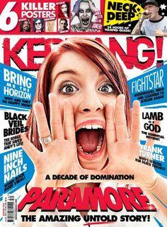 En la nueva edición de la revista Kerrang! viene Hayley en portada y un artículo dedicado a los 10 años de Paramore. 2015
