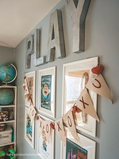 Vintage Disney Playroom Survival of a Suburban Mom playroom vintage Disney prints Playroom Paint, Playroom Flooring, Playroom Wall Decor, Baby Playroom, Playroom Furniture, Playroom Organization, Playroom Design, Baby Room Decor, Playroom Ideas