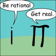 imaginary versus irrational