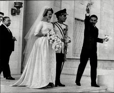 King Hussein I of Jordan and Princess Muna of Jordan. Second Wife of King Hussein.