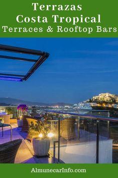 Terrace Restaurant, Rooftop Terrace, Spanish Towns, Andalucia Spain, Sky Bar, Stunning View, Spain Travel, Malaga, European Travel