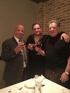 Sonny Franzese enjoying a glass of wine ;-)