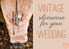 Vintage Wedding Silverware (photo: sassyfras studios, forks: wooden hive) via EmmalineBride.com