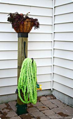 DIY hose organization -- no digging, no cement!