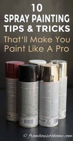 Learn how to spray paint evenly and without drips using these spray painting tips and tricks. Whether you are painting metal or wood furniture or glass indoors or outdoors these techniques will help you get a great finish. Learn how to spray p Spray Paint Dresser, Spray Painting Wood Furniture, Spray Paint Tips, Spray Paint Wood, Spray Paint Projects, White Spray Paint, How To Paint Metal, Spray Paint Techniques, Paint Cans