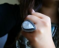 The Comet's Journey - Moonstone Sterling Silver Ring