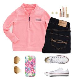 """Read D if you are homeschooled!"" by sc-prep-girl on Polyvore featuring Vineyard Vines, Abercrombie & Fitch, Converse, Lilly Pulitzer, Tory Burch, Stila and Ray-Ban"
