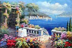 oil painting Mediterranean Sea Paintings Mediterranean Sea oil ...