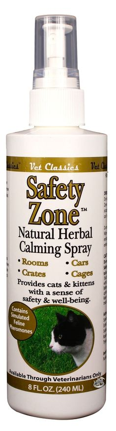 Affordable Vet - Safety Zone Natural Herbal Calming Cat Spray (8oz.), $10.00…